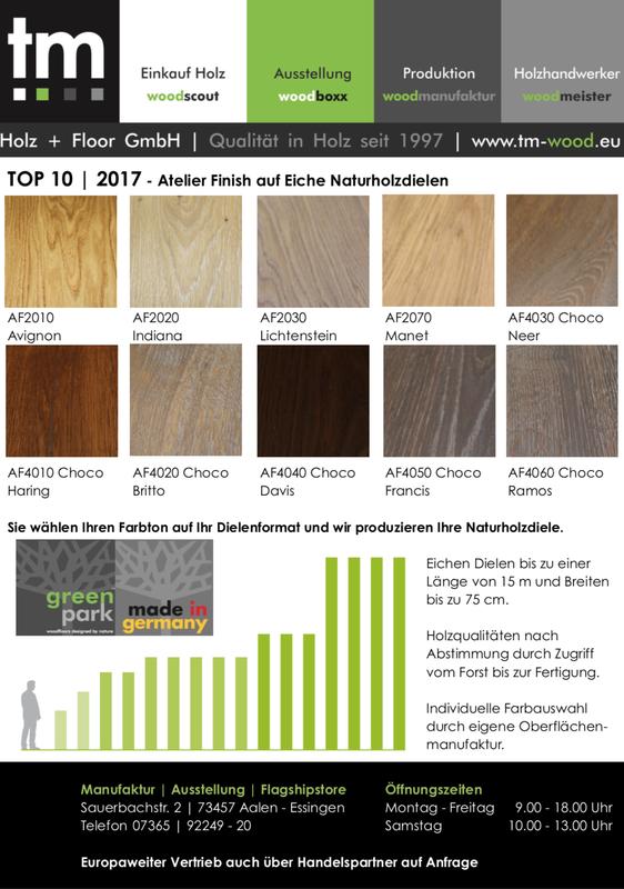Top 10 Farben auf Eiche Dielen 2017